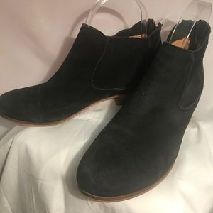 House of Harlow black suede booties. size 7